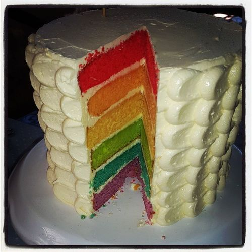 Rainbow Cake @thelitchiorchard market....how I wish I had a sweet tooth today!!! Thelitchiorchard