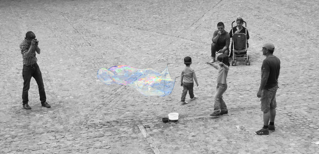Big Bubbles Bubble Children Fun Glass Magic Soap Bubbles Sphere Still Movement Transparent