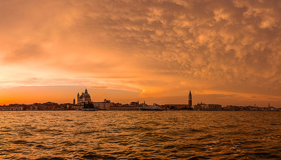 Canale Grande Red Venedig Venice, Italy Architecture Beauty In Nature Building Exterior Canal City Cityscape Cloud - Sky Coluds Day Nature Nautical Vessel No People Orange Color Red Color San Marco Sky Sunset Transportation Travel Destinations Water Waterfront