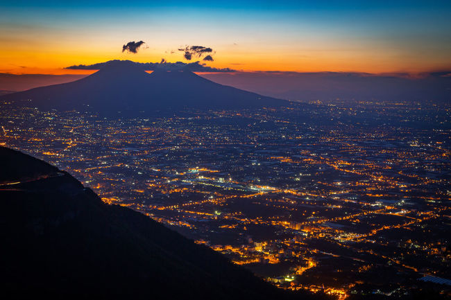 Napoli Night Photography Vesuvio Beauty In Nature City Cityscape Day Landscape Mountain Nature No People Outdoors Scenics Silhouette Sky Sunset Tranquility