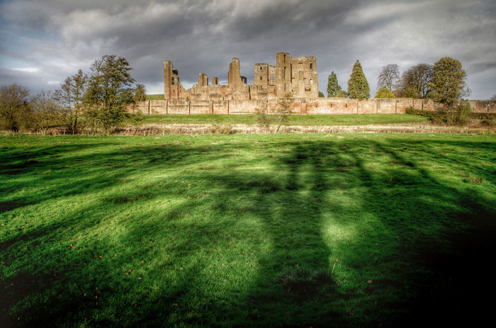 Ancient Architecture Building Exterior Built Structure Cloud Cloud - Sky Cloudy Elizabethan Field Grass Green Color Growth History Kenilworth Castle Landscape Landscapes With WhiteWall Moody Sky Nature Old Ruin Outdoors Sky The Past Tree Tree Shadows Warwickshire