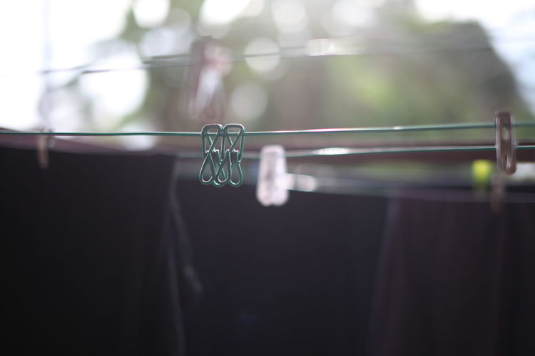 Close-Up Of Clothesline