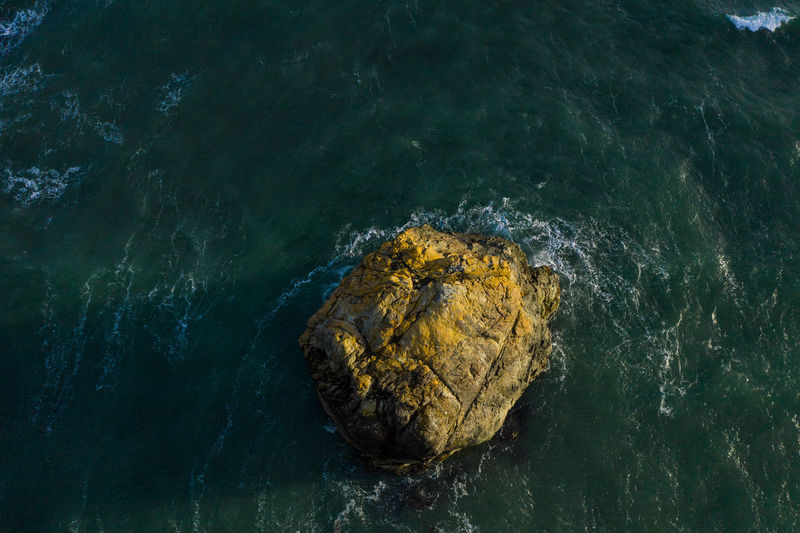 Top View drone image of a sea stack at the Oregon coast Aerial View Aerial Photography Aerial Shot Drone  Dronephotography Drone Photography Pacific Ocean Pacific Northwest  Pacific Coast Oregon Oregon Coast Port Orford Coast Coastline Landscape Landscape Photography Nature Outdoors Sea Stack Rock Rock Formation High Angle View Sea Rock - Object Power In Nature