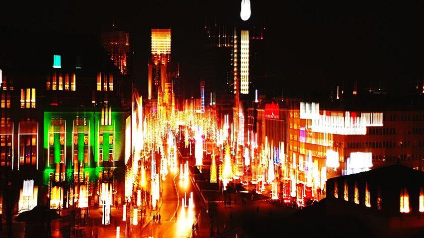 Kudamm At Night Cityview Berlin Light In The Darkness Chrismas Time Beautiful City