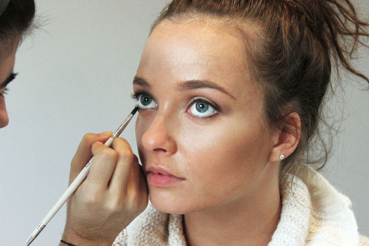 Woman Getting A Make-Up