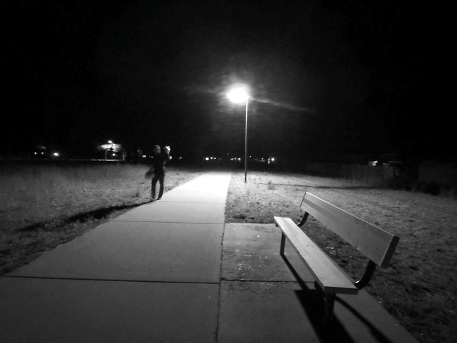 He's just a blur in life. Night Illuminated Street Light Adults Only Outdoors One Man Only Timeless Alone In The World Blurred Motion Night Photography Walking Alone... Loneliness Blackandwhite Eyem Best Shots Thinking Of You On The Other Side Real People Peace On Earth Sidewalk Photograhy Dark Nights A Stranger A Friend One Lamp Adult One Person Arizona Dreamer's Vision