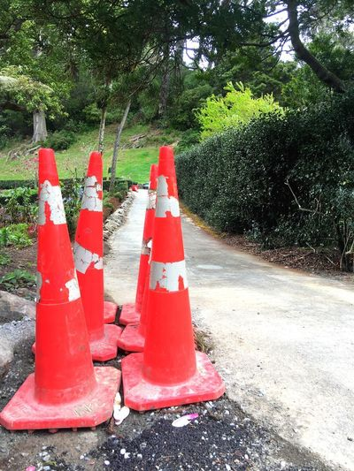Traffic cones over the hole in the ground Safety Protection Red Outdoors Traffic Cone Road Cones Traffic Cones Ground Hole In The Ground