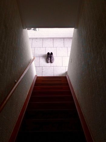 Indoors  Staircase Steps And Staircases Steps One Person Architecture Built Structure Real People Men Day Lifestyles Full Length Hand Rail One Man Only People Shoes Be. Ready.