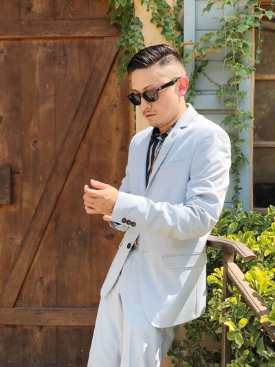 Mensfashion Suit Gay Menswear Standing One Person Real People Three Quarter Length Young Adult Front View The Fashion Photographer - 2018 EyeEm Awards Lifestyles Day Young Men Glasses Architecture Males  Clothing Outdoors Looking Leisure Activity Nature White Color The Architect - 2019 EyeEm Awards