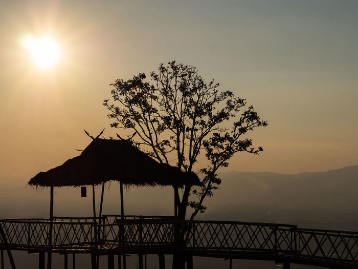 Bamboo hut,