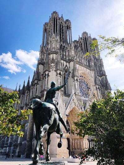 Church Joan Of Arc France Reims Architecture Built Structure Building Exterior Sky Building Low Angle View Religion History Travel Destinations