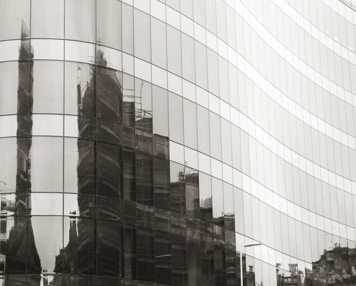 WARPED CITY Architecture Blackandwhite Photography Building City Glass Reflection Reflections Urban Windows