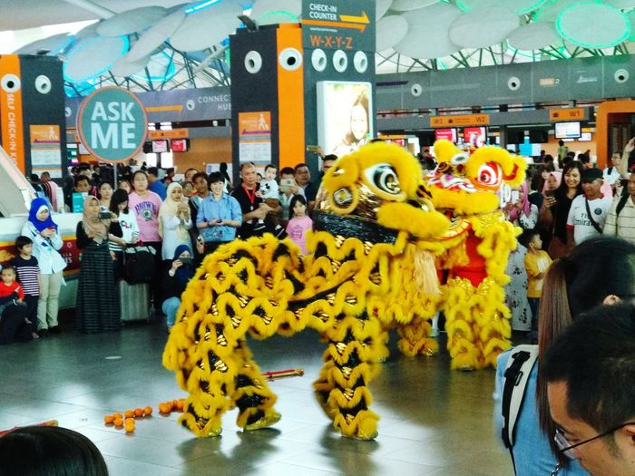 Lion Dance activities at Level 2, klia2,Malaysia... ChineseNewYear2018 Animal Representation Large Group Of People Day People City Outdoors Adult