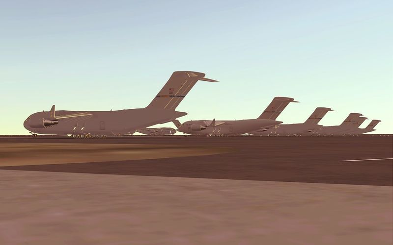 Some C17s resting upon their ramps. Infiniteflightsimulator Teamifphg Avgeek