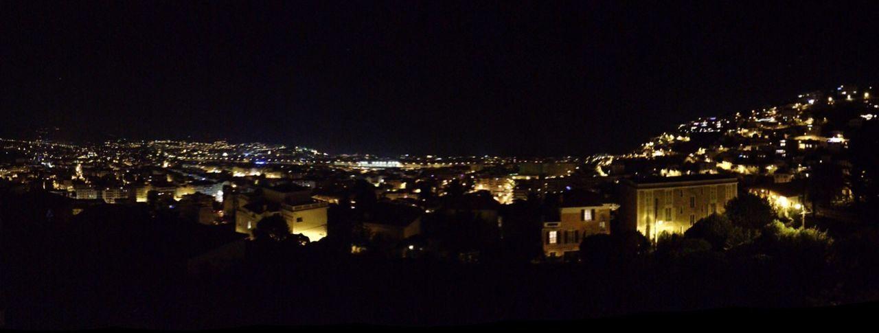 Night view .... Panorama Nice / Nizza Night Lights