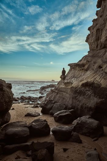 Sky Sea Water Rock Beach Land Go Higher Summer Exploratorium 2018 In One Photograph