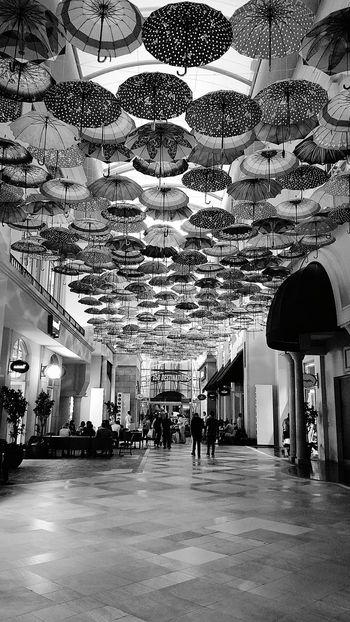 First Eyeem Photo DubaiMall Dubai UAE EyeEmNewHere It's Raining Inside Umbrellas Umbrella Art Umbrella In The Sky I Got You Covered Let's Go. Together.