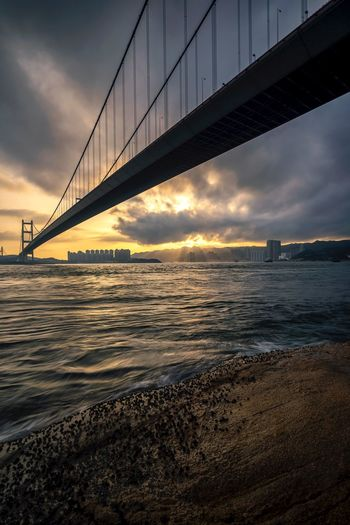 light Cityscape View Sony Landscape HongKong Bridge - Man Made Structure Suspension Bridge Connection Architecture Sky Engineering Built Structure Cloud - Sky Sunset Sea Outdoors No People Bridge Nature Day City Travel Destinations Water Transportation