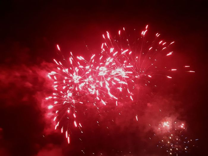Astronomy Galaxy Star - Space Red Multi Colored Arts Culture And Entertainment Firework Display Celebration Firework - Man Made Object Space Sparks Firework Exploding Explosive Light Lit New Year Glowing Entertainment