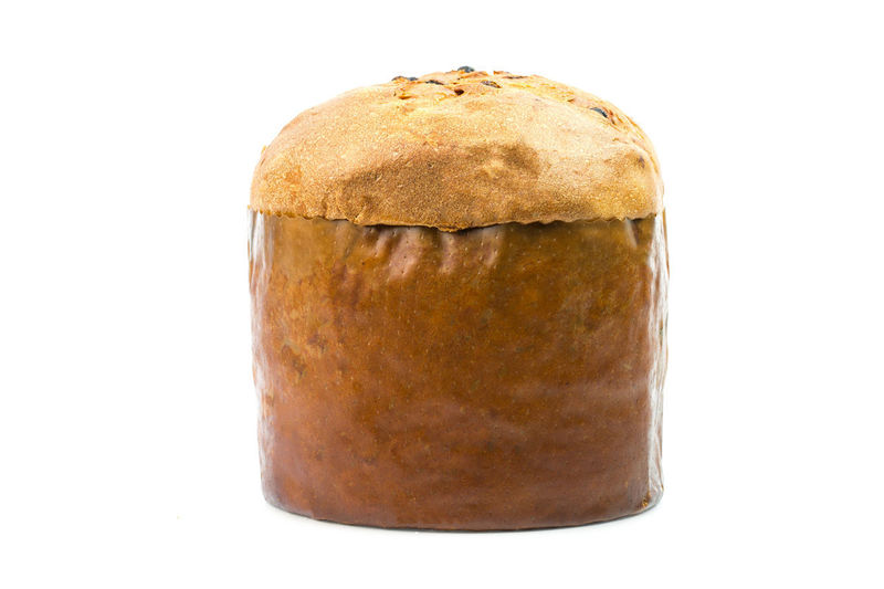 Food And Drink Studio Shot White Background Food Freshness Cut Out Indoors  Close-up Still Life Bread Healthy Eating Single Object Wellbeing Baked No People Brown Ready-to-eat Copy Space Serving Size Indulgence Temptation Snack Panettone Tradizione Panettone Milanese