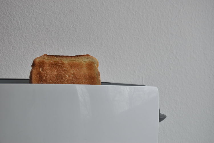 Bread Food Indoors  Food And Drink Toasted Bread Toaster Freshness No People Breakfast Still Life White Color Close-up SLICE Copy Space Simplicity Toast Minimalism Minimal