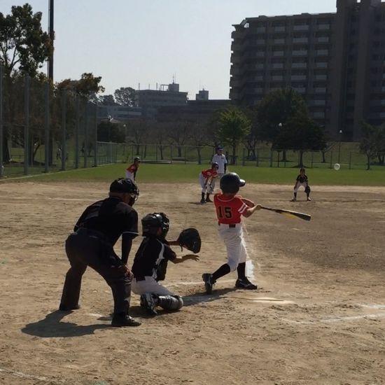ナイスホームラン*\(^o^)/* 野球 Baseball 少年野球 ホームラン Home Run 父ちゃん大喜び(*^^*)
