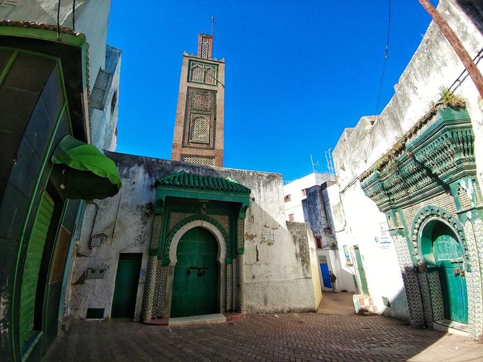 Morocco Photos Morocco Architecture Built Structure Building Exterior Landscape Low Angle View Blue Travel Destinations Outdoors Day Sky No People Building Structure My Point Of View Taking Photos Tourism Travel Alley Back Street LG V20 Miro Miro Alley Arch Streamzoofamily