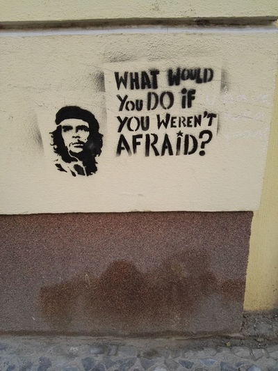 What would you do? Che Guevara DontBeAfraid  Foodforthought Streetart Whatwouldyoudo