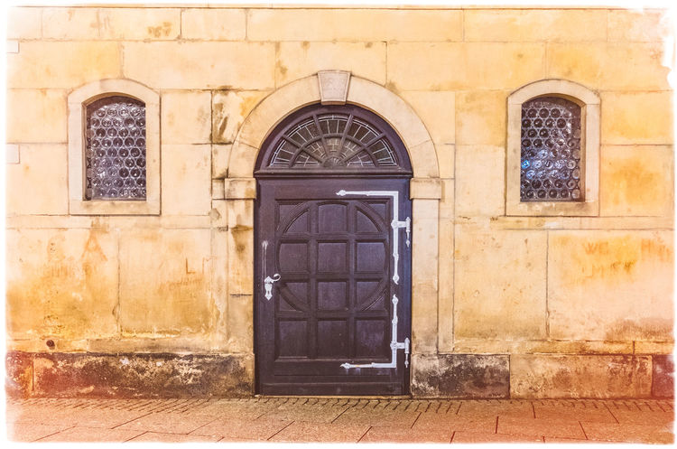 The Church Door At Celle , Lower Saxony, Germany At Night Celle Church Night Photography Old Town Arch Architecture Building Exterior Built Structure Church Door Church Doorway Door Entrance Façade Germany Historic Historic Building History Lower Saxony Medieval Monastic Night Time No People Place Of Worship Window