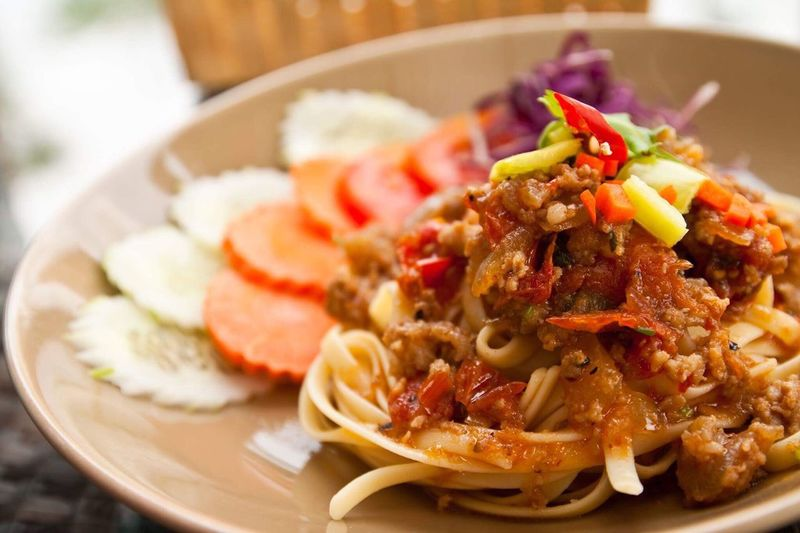 Spaghetti Ready-to-eat Food And Drink Plate Food Serving Size Freshness Healthy Eating No People Meal Close-up Table Mexican Food Vegetable Meat Indoors  Homemade Italian Food Day