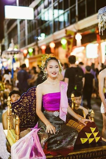 Colors Of Carnival Loy Krathong Parade Beautiful Thai Girl Street Performer Thailand Showcase: February Travel Travelling Amazing Thailand Festival The Tourist Lantern Loy Kratong Festival Streetphotography Cosplay Parades Miss Thailand Spotted In Thailand
