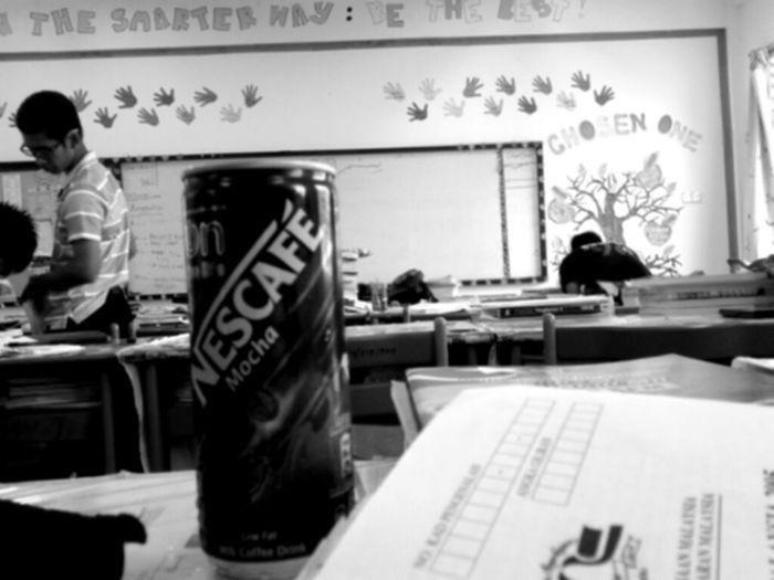 my friend's class. yeah, she's a smart girl.
