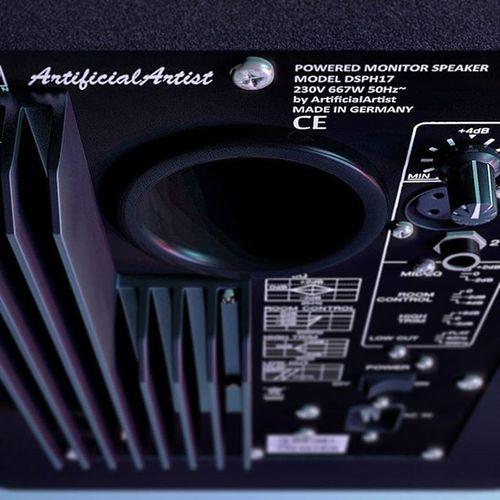 Active LoudSpeakers - Full-detail 3D model (shot of backside) Digitalart  Art 3dmodel 3dmodeling 3dsMax Mentalray Digitalartist Highpoly Fulldetail Loudspeaker Loudspeakers Photorealism Photorealistic Rendering 3drendering Render Wip Autodesk