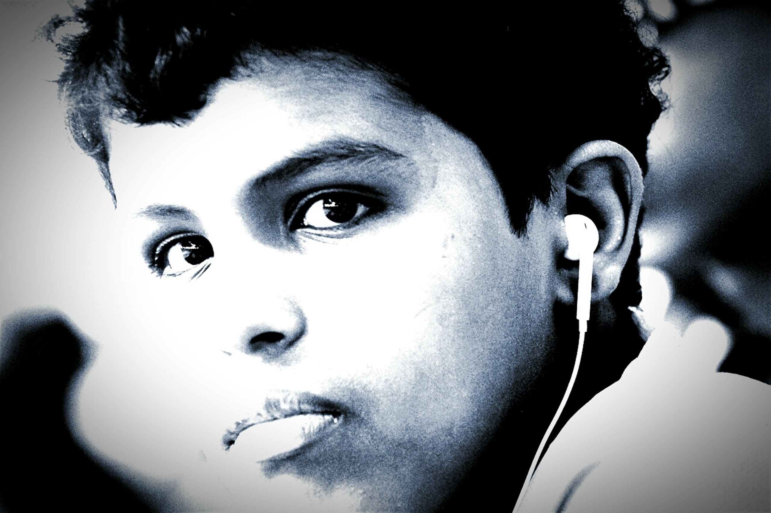 headshot, looking at camera, portrait, close-up, lifestyles, indoors, front view, person, human face, leisure activity, focus on foreground, young adult, head and shoulders, contemplation, childhood, innocence