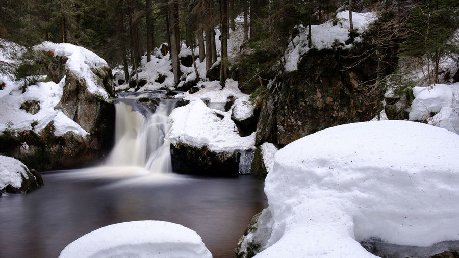 Baden-Württemberg  Deutschland Fuji Germany Schwarzwald Winter X-t2 Black Forest Waterfall Water Beauty In Nature Scenics - Nature Cold Temperature Snow Long Exposure Motion Tree Flowing Water White Color Nature Forest Blurred Motion No People Plant Rock Flowing Outdoors Stream - Flowing Water Power In Nature Falling Water