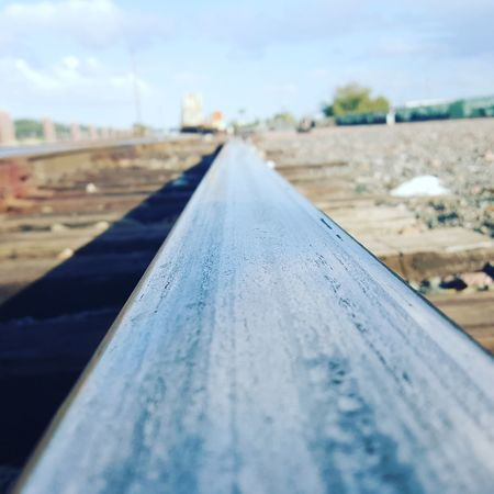 The track of life. Even in the hardest times we cannot shy away from the path. Its always there. Railroad Railroad Track Theway Setyoursights Traintracks Trainyard