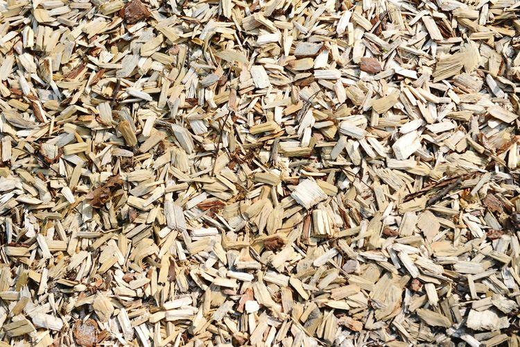 Full frame shot of wood chips