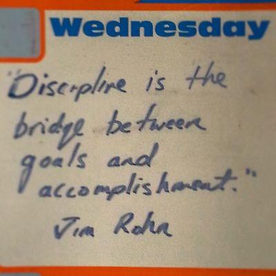 Dailyquote SeanKnows Discipline Jimrohn worktodo workitwednesday waterwednesday