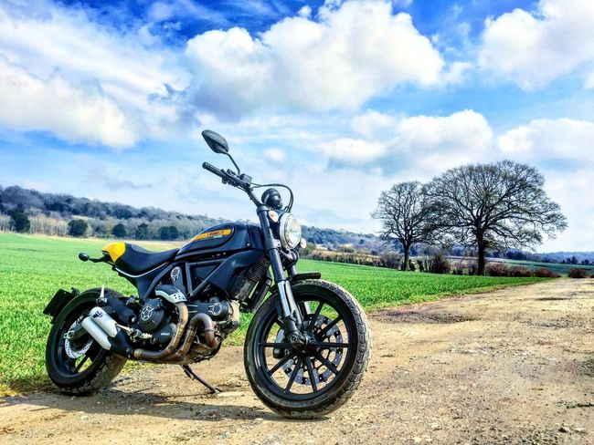 Ducati Ducatiscrambler Scrambler Motorcycles Field Farm Sky Weather