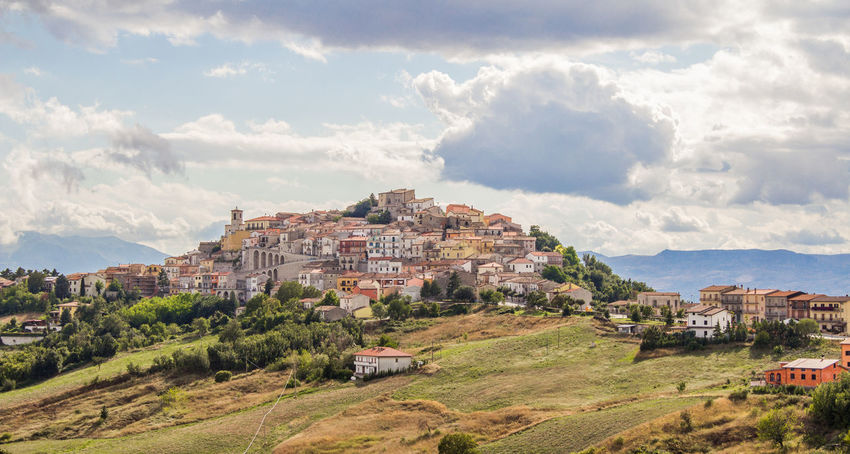 Ancient Field Hills Serenity Tranquility Architecture Building Exterior Built Structure Clouds Day Hill Idyllic Italy Landscape Molise Mountain Nature No People Outdoors Rural Scene Sky Town Tranquil Scene Village Wildlife