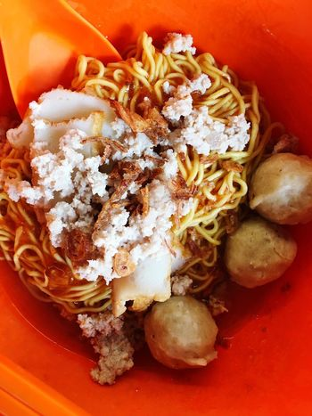 One of the typical local meal Singapore Hawkerfood Noodles Food