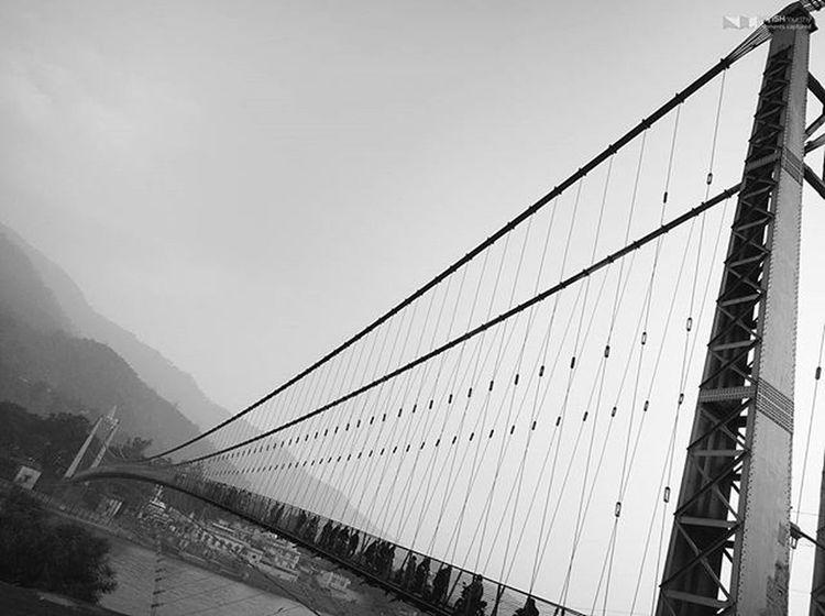 Suspension Bridge over Ganga River at Rishikesh Blackandwhite Nexus6P HDR Nexus6pphotography VSCO Vscocam