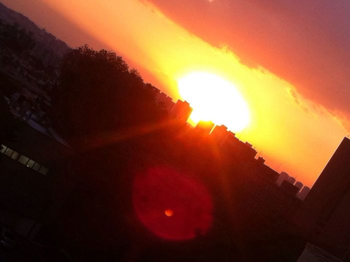 Mr. Sun Taking Photos Sunny Day Wasn't Taken Today Sunset São Paulo Buildings Yellow Orange Sunshine ☀