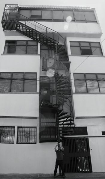 Architecture Built Structure Building Exterior Day Steps And Staircases Staircase No People Fire Escape Outdoors Sky