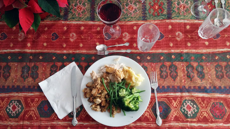 In Anticipation of Christmas Dinner Holiday Christmas Time Christmas Food EyeEmNewHere CountdownToChristmas Christmas Turkey Wine Plate Food And Drink Table Indoors  Food Tablecloth Ready-to-eat Freshness No People Close-up Food Stories
