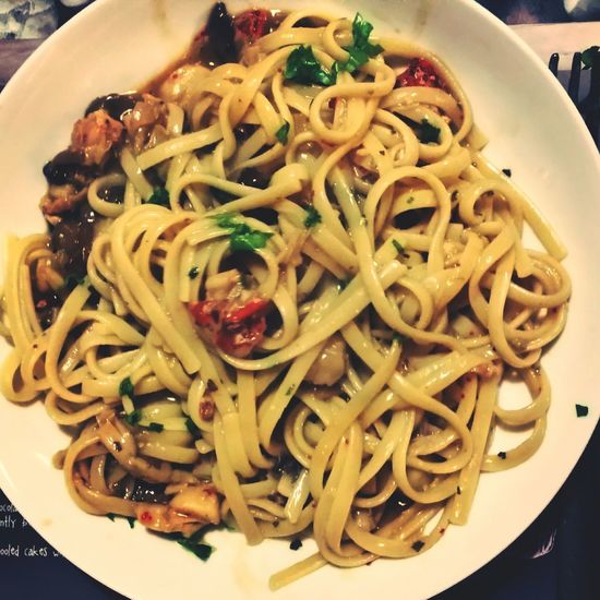 Loster and scallop linguine