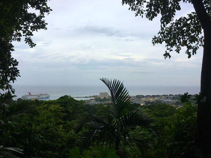 Overlooking Ocho Rios, Jamaica Sea Sky Water Nature Overlook Ocho Rios Jamaica Konoko Falls Jamaica Cruise Ship Ocean