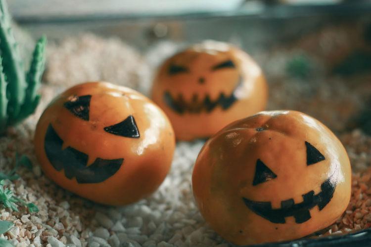 Close-up of halloween pumpkin