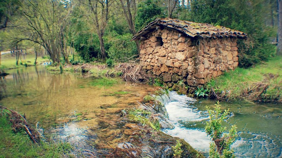 Water Nature Outdoors No People Tranquility Beauty In Nature Day Tranquil Scene Scenics Tree Landscapes Landscape EyeEm Gallery Cuenca, Spain Cuenca Awe Check This Out Stone House Watermill Idyllic Once Upon A Time Malephotographerofthemonth