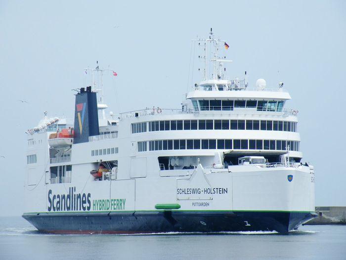 Puttgarden Schiff Fähre Vogelflug Dänemark Danmark Ostsee Fehmarn Hybrid Ferry Ferryboat Scandlines